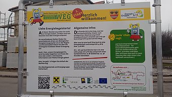 The first of six information boards on the loop trail. © Doris Löschenbrand - Energiegruppe Hafnerbach